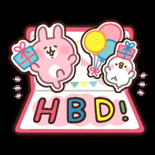 Kanahei Piske & Usagi Celebrate - Sticker 21