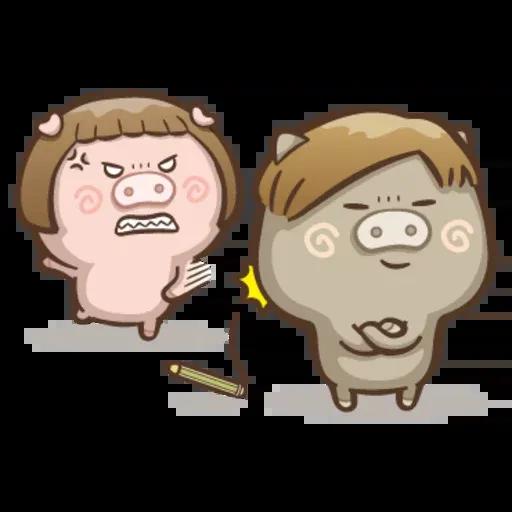 Fat pig couple - Sticker 9