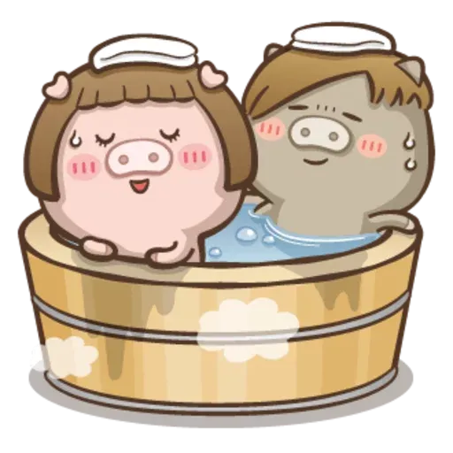 Fat pig couple - Sticker 11