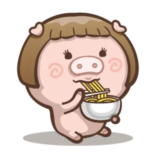 Fat pig couple - Sticker 20