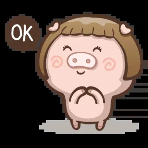 Fat pig couple - Sticker 2