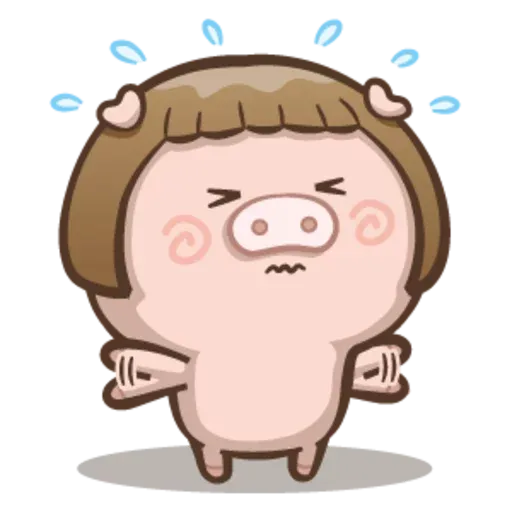 Fat pig couple - Sticker 24