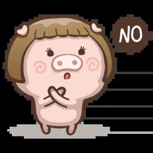 Fat pig couple - Sticker 3