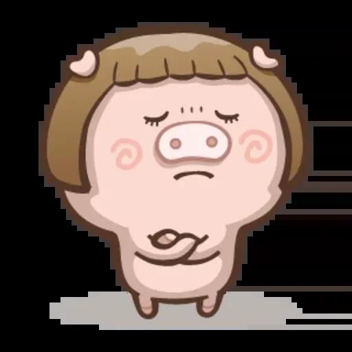 Fat pig couple - Sticker 6
