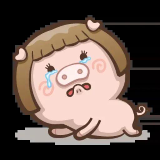 Fat pig couple - Sticker 8