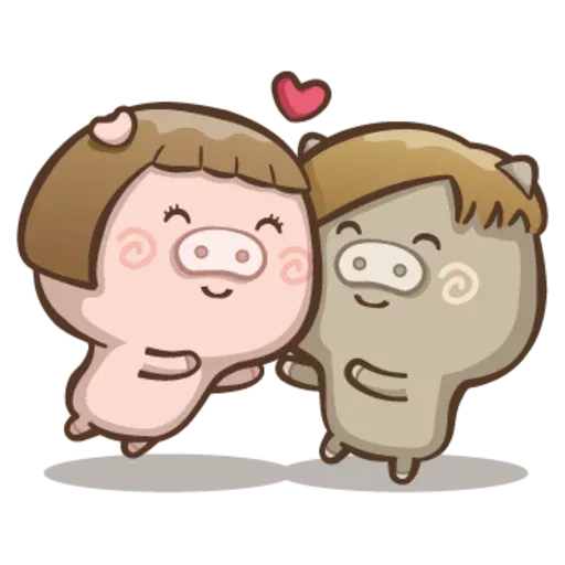 Fat pig couple - Sticker 26
