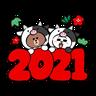 New year 4 - Tray Sticker