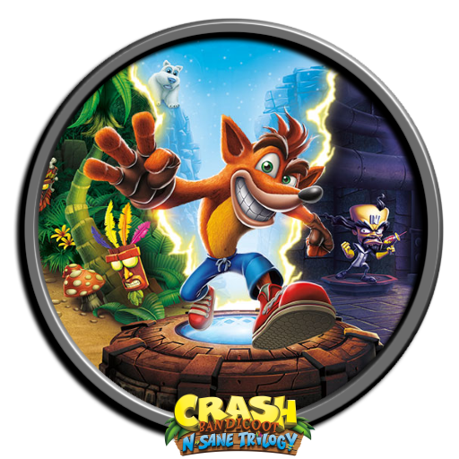 crash bandicoot 1of 2 - Tray Sticker