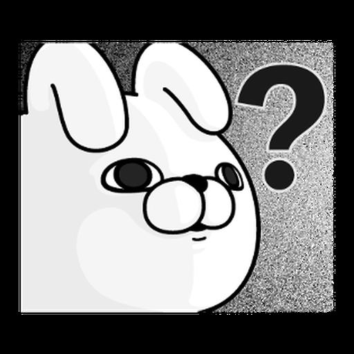 YOSISTAMP-兔兔100%過激貼圖 1 - Sticker 19