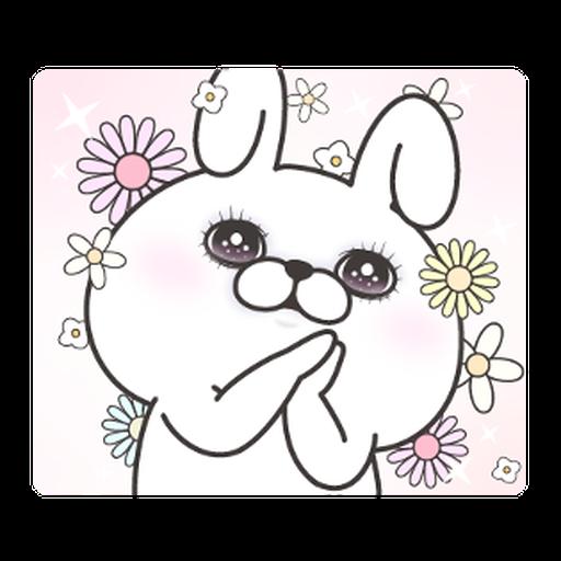 YOSISTAMP-兔兔100%過激貼圖 1 - Sticker 21