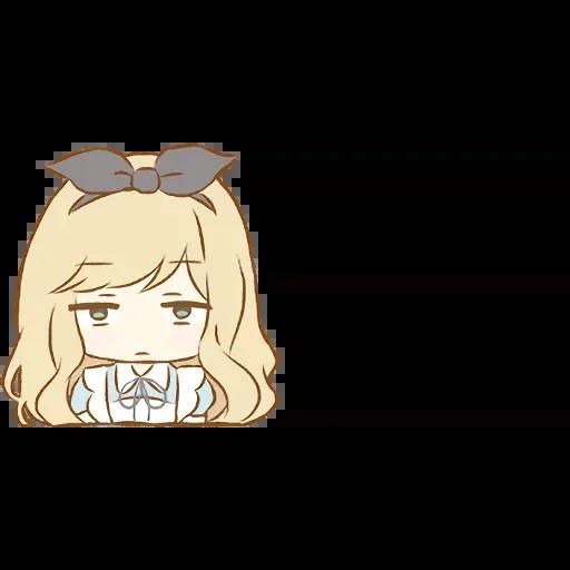 Alice Emoji - Sticker 18