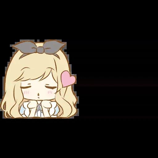Alice Emoji - Sticker 9