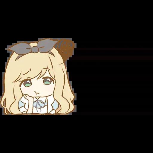 Alice Emoji - Sticker 13