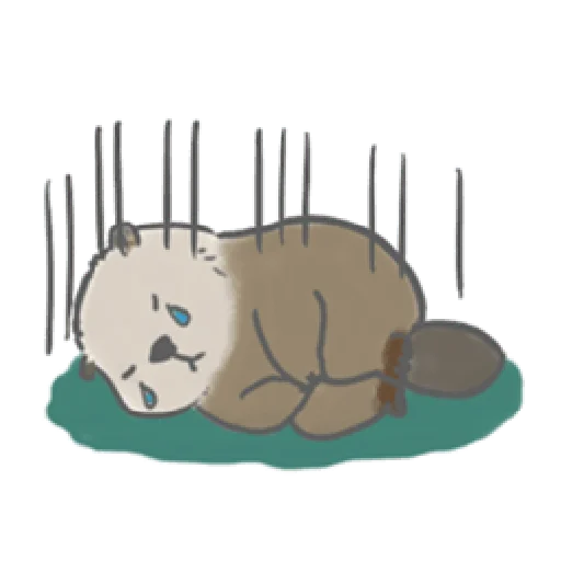 Otter's kawaii sea otter - Sticker 8