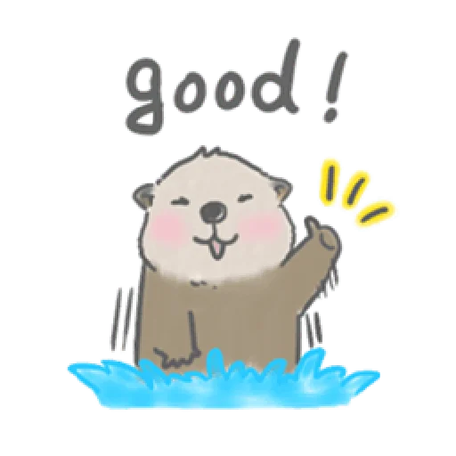 Otter's kawaii sea otter - Sticker 11