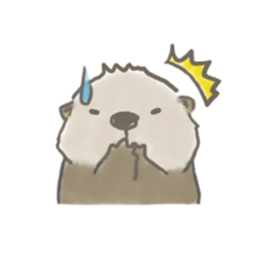 Otter's kawaii sea otter - Sticker 17