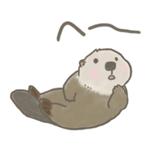 Otter's kawaii sea otter - Sticker 6