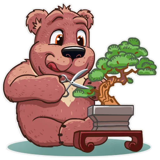 Bear play - Tray Sticker