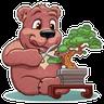 Bear play - Tray Sticker