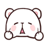 MilkNMocha emotion - Tray Sticker