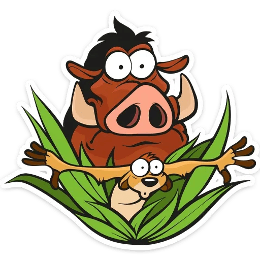 Timon and Pumba - Sticker 4