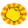 Plump Little Chick 1 - Tray Sticker