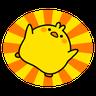 Plump Little Chick 1 - Tray Sticker