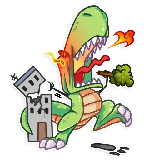 The almost good dinosaur - Sticker 11