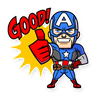 Marvel mini heroes - Tray Sticker