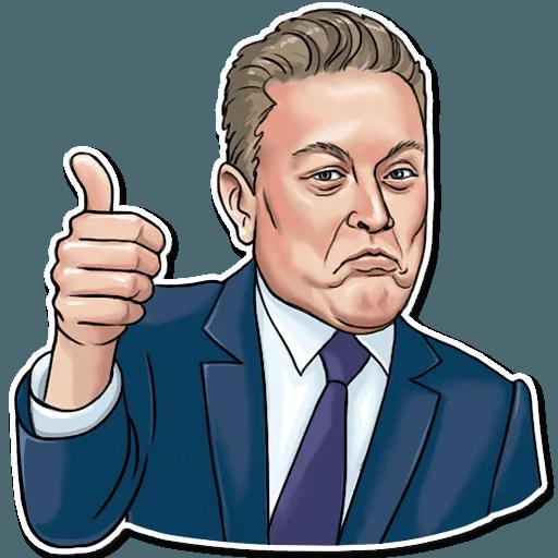Elon Musk - Sticker 3