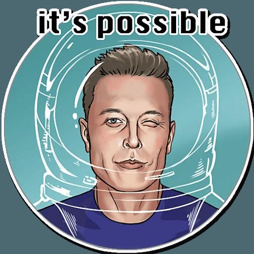 Elon Musk - Sticker 15
