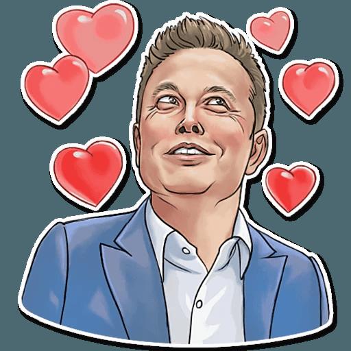 Elon Musk - Sticker 10