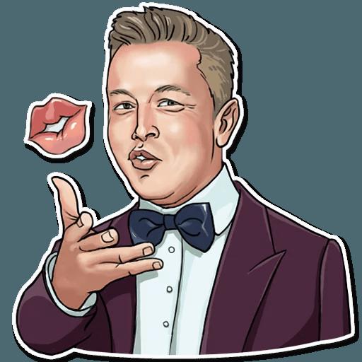 Elon Musk - Sticker 2