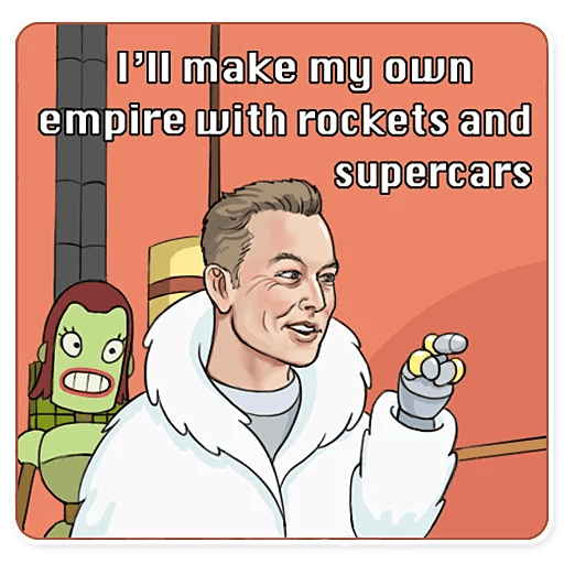 Elon Musk - Sticker 27