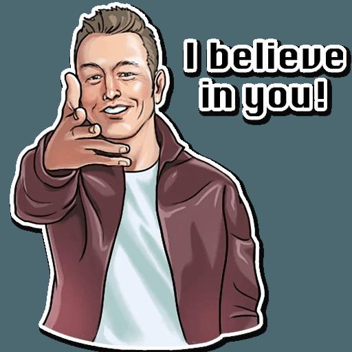 Elon Musk - Sticker 9