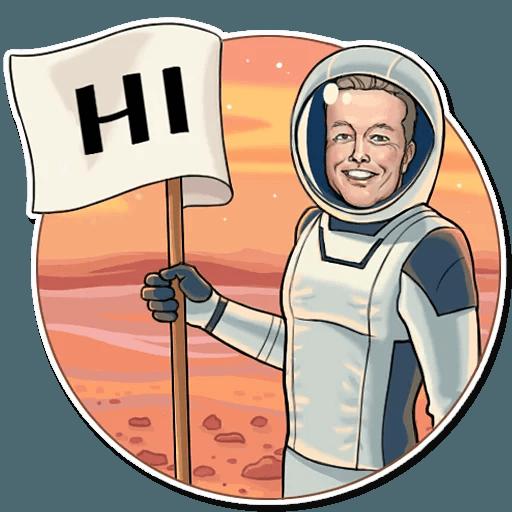 Elon Musk - Sticker 4
