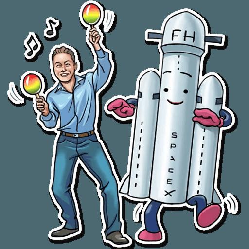 Elon Musk - Sticker 20