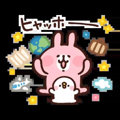 kanahei&usagi travel - Sticker 6