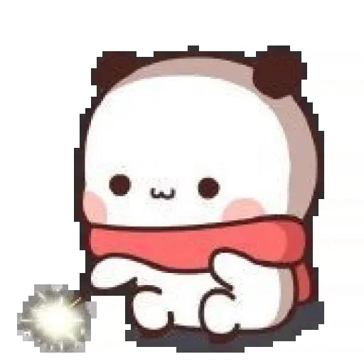 Panda cute - Tray Sticker