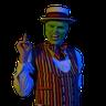 The mask -rebelspirit - Tray Sticker