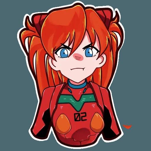 Asuka NGE - Sticker 6