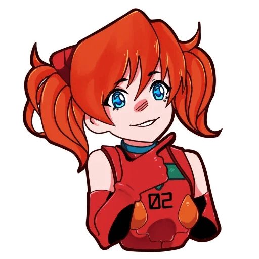 Asuka NGE - Sticker 17