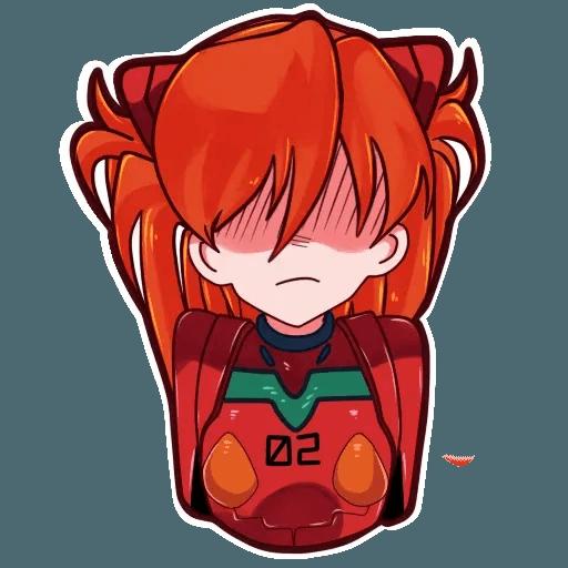 Asuka NGE - Sticker 10