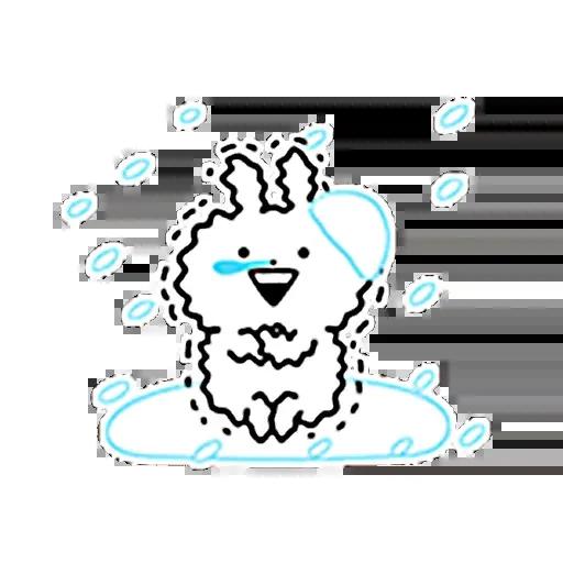 白色一粒野 - Sticker 29