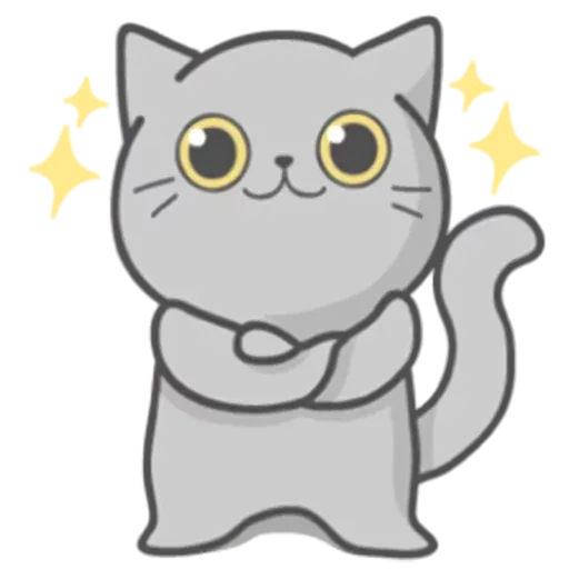 Cat Fullmoon - Sticker 28
