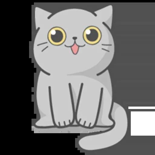 Cat Fullmoon - Sticker 4