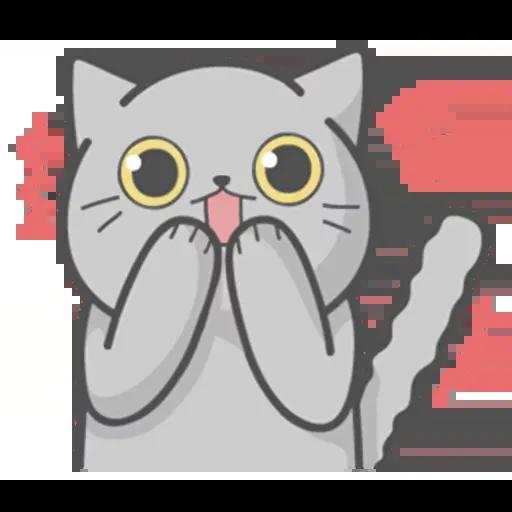 Cat Fullmoon - Sticker 3