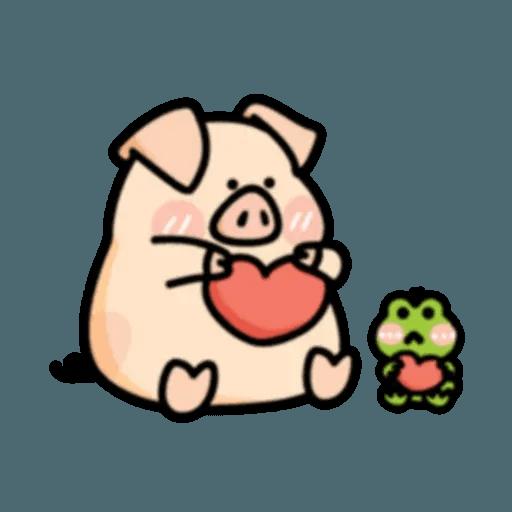 豬與蛙 2 - Sticker 25