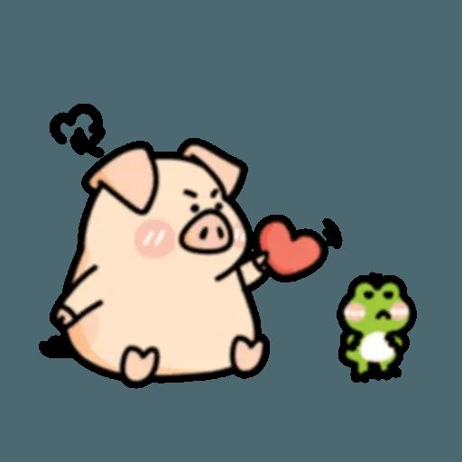 豬與蛙 2 - Sticker 24