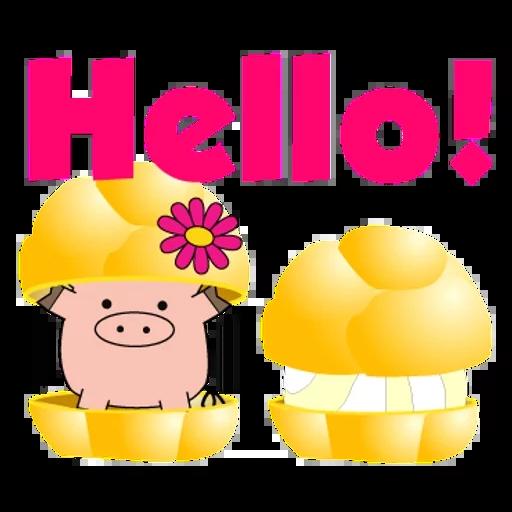 Piggy & Panda 1 - Tray Sticker